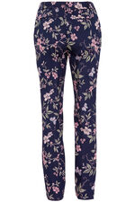 Floral Cotton Sateen Trousers