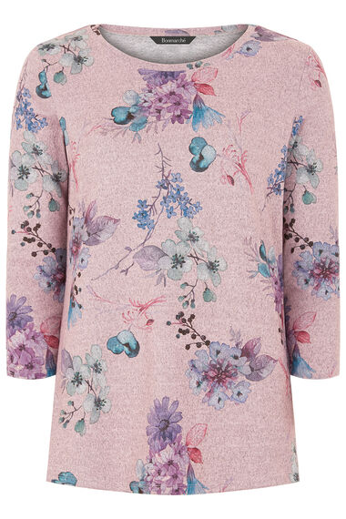 Floral Print Crew Neck Sweater