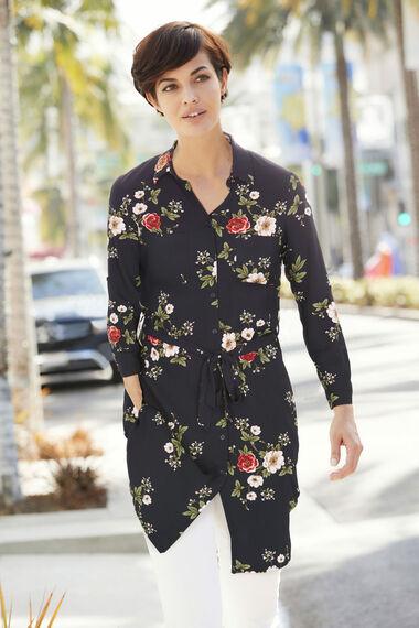 Stella Morgan Floral Longline Shirt