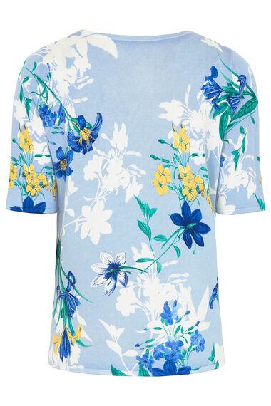 Short Sleeve Floral Print Jumper