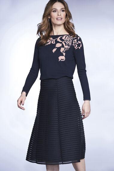 Modern Lace Panel Skirt