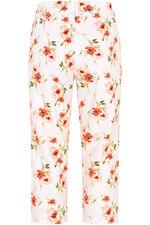 Peached Poppy Print Capri Trousers