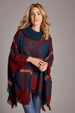 Checked Boucle Poncho