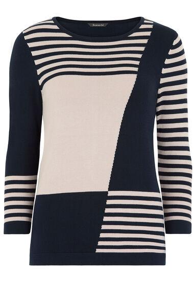 Colour Block and Stripe Jumper