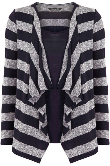Striped Drape Front Top