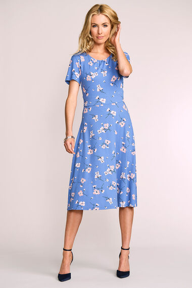 Printed Dress and Shrug