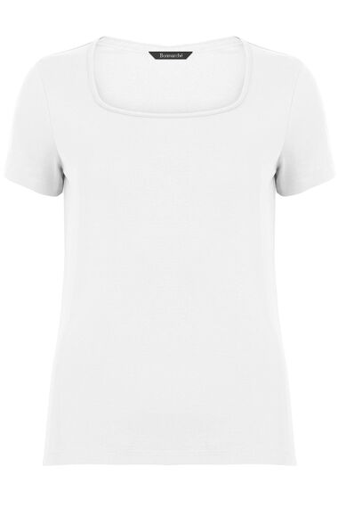 Pure Cotton Square Neck T-Shirt