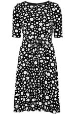 Spotted Fit and Flare Dress