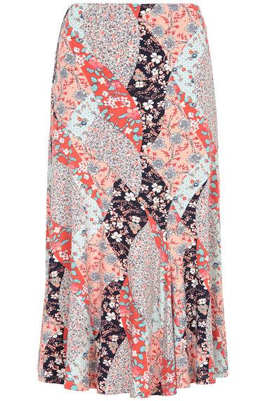 Printed Jersey Maxi Skirt