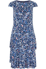 Abstract Print 2 In 1 Dress And Shrug