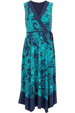 Paisley Border Print Dress