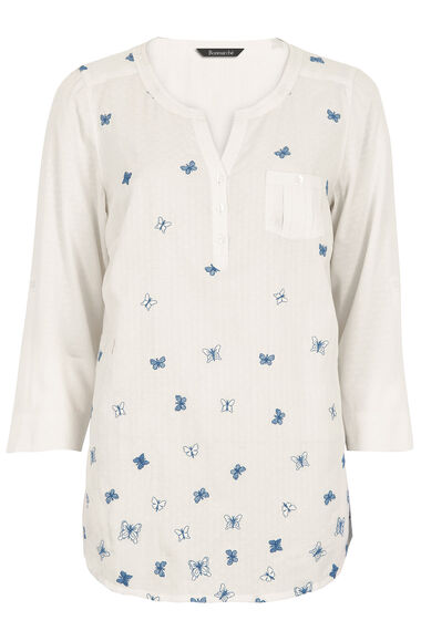 Ann Harvey Butterfly Embroidered Blouse