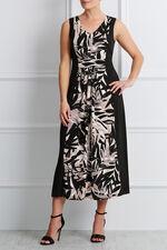 Panelled Print Sleeveless Maxi Dress