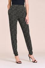 Diamond Print Jersey Harem Trousers