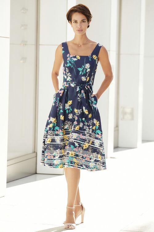 Cotton Sateen Floral Dress