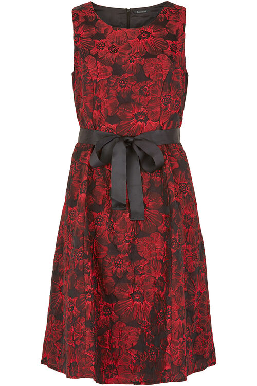 Elegant Floral Print Prom Dress