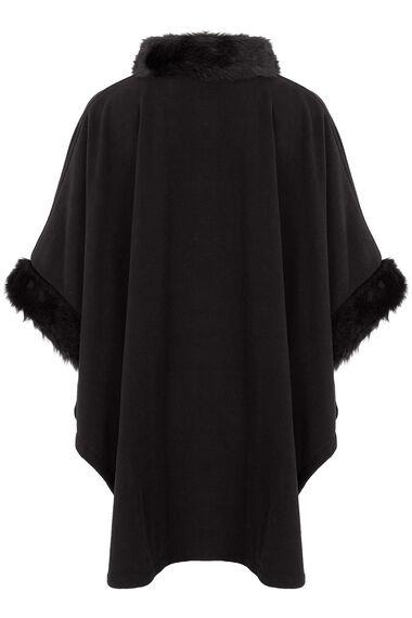 Fur Trim Fleece Wrap