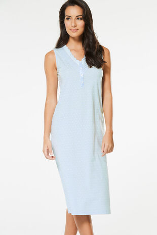 Sleeveless Geo Print Nightdress