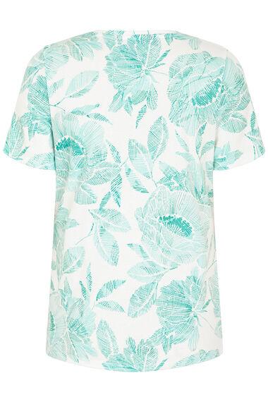Notch Neck Printed T-Shirt