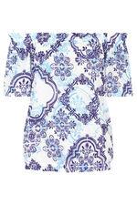 Tile Printed Gypsy Top