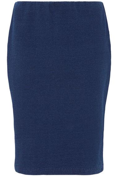 Denim Jersey Pencil Skirt