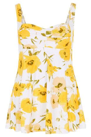 Floral Print Twist Swimdress