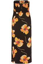 Poppy Print Shirred Maxi Dress