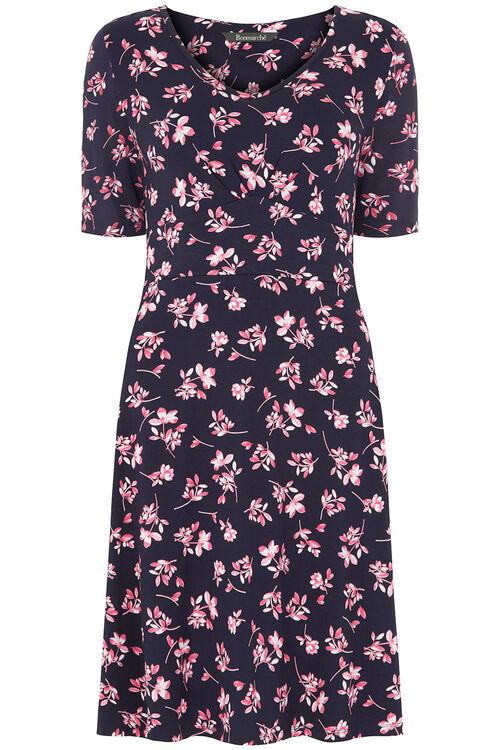 Floral Leaf Tea Dress