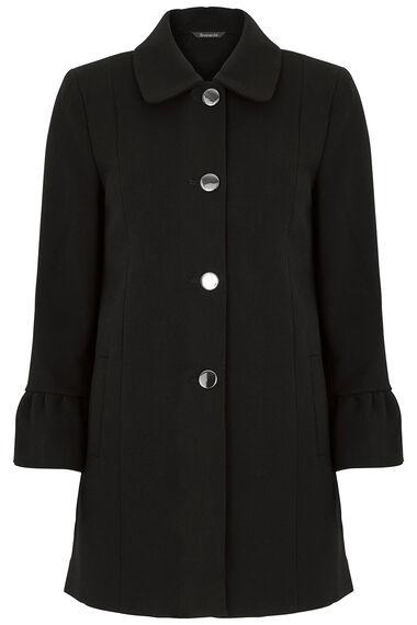 Smart Fluted Sleeve Coat