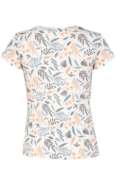 Printed V-Neck Jersey Top