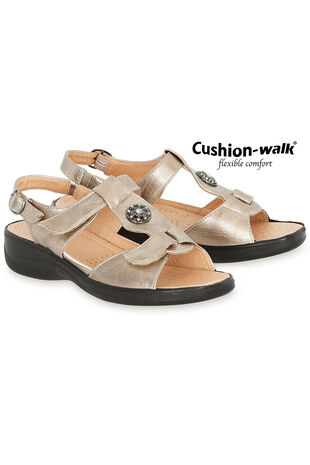 Cushion Walk Touch Fasten Sling Back Sandal