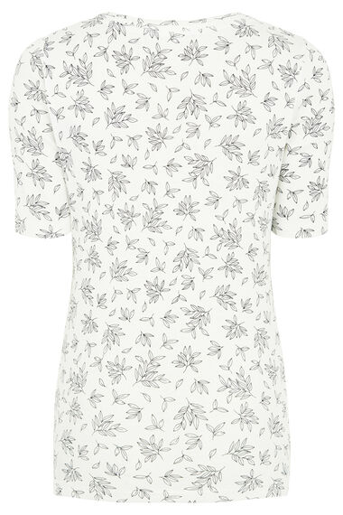 Printed Scoop Neck Half Sleeve T-Shirt