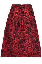 Brocade Box Pleat Skirt
