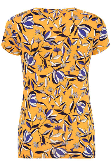 Spaced Floral Print V-Neck Top