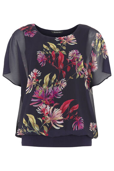 Floral Printed Blouson Top