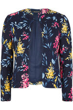 Floral Print Quilted Jacket