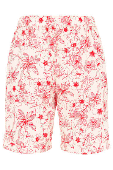 Linear Floral Essential Cotton Shorts