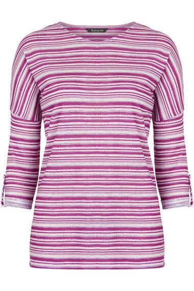 Stripe Print Knit Top