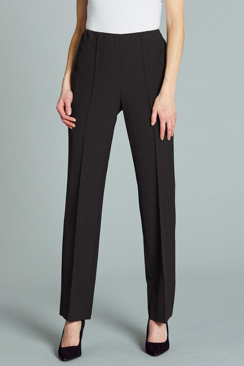 Comfort Waist Straight Leg Trousers