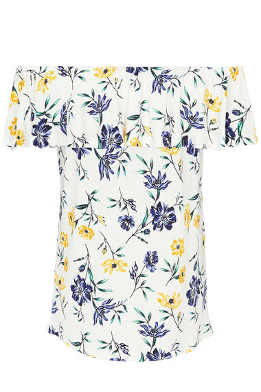 Floral Printed Bardot Top