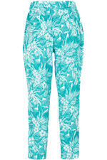 Floral Print Tapered Trousers
