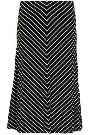 Stripe Panel Jersey Skirt