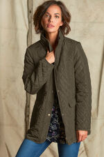 Quilted Coat with Hood