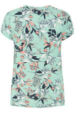 Floral Printed Scoop Gathers Top