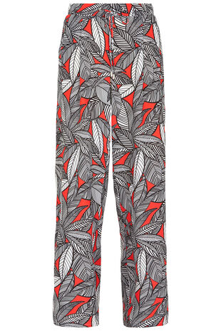 Printed Crepe Palazzo Trousers