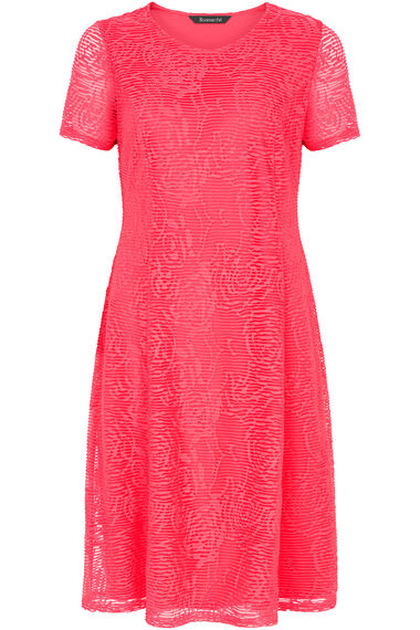 Textured Fit and Flare Dress
