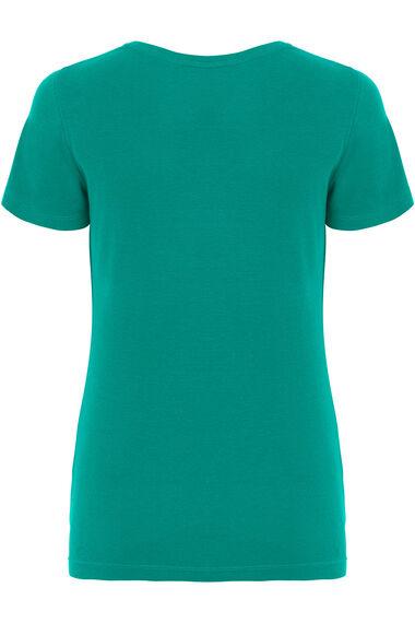 Cotton Notch Neck T-Shirt