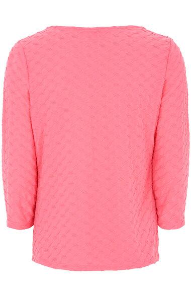 Textured Jersey 3/4 Sleeve Top