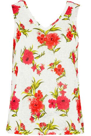 Floral Print Vest