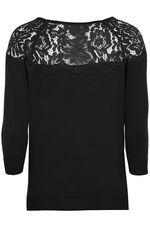 Lace Shoulder Sweater